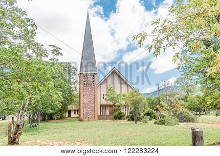 COOKHOUSE SOUTH AFRICA - FEBRUARY 19 2016: The Dutch Reformed Church in Cookhouse a small town in the Eastern Cape Province