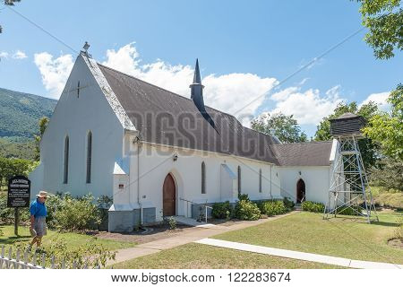 SOMERSET EAST, SOUTH AFRICA - FEBRUARY 19, 2016: The All Saints United Church in Somerset East, a small town on the Blue Crane Route in the Eastern Cape Province