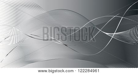 Grey smoke wavy background, classic color. Vector illustration for modern business design. Futuristic, Classy pattern for presentation, card, flyer and brochure.