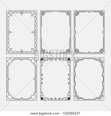 set frame image decorative ornamental frame abstract frame