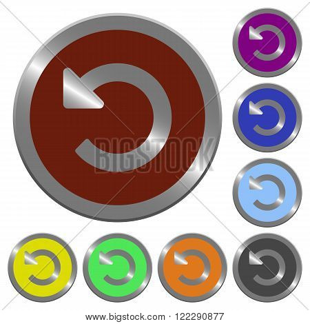 Set of color glossy coin-like undo changes buttons.