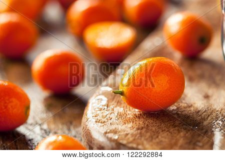 Raw Organic Orange Kumquats