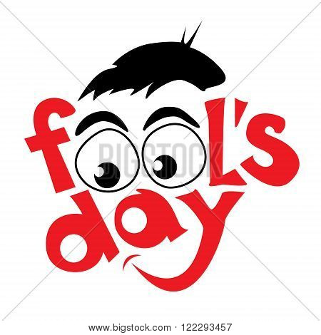 April fools day symbol design. Vector illustration