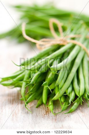 a bunch of green beans