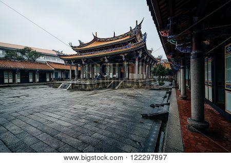 Exterior Of The Taipei Confucius Temple, In Taipei, Taiwan.
