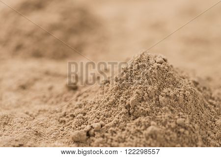 Galangal Powder (detailed close-up shot; selective focus)