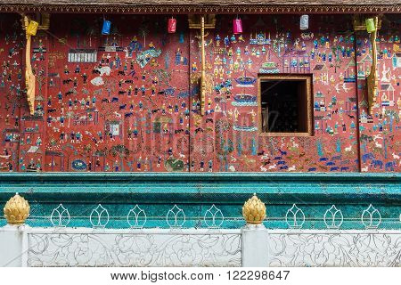 Wat Xieng Thong Buddhist temple in Luang Prabang World Heritage Laos
