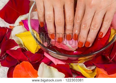 Beautiful manicure nails. Beautiful female hands with nails painted nails. Art manicure. Art manicure. Creative manicure. Taking Close-up nails. Art nails. Nails art. Art manicured fingers.