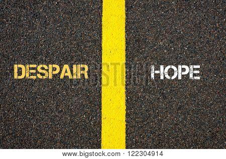 Antonym Concept Of Despair Versus Hope