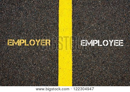 Antonym Concept Of Employer Versus Employee