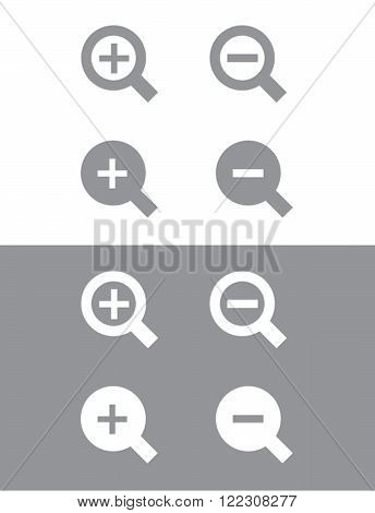 Vector Magnifying Glass Set in Grey and Reverse