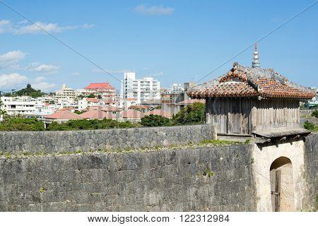 Castle wall in okinawa