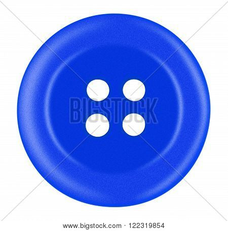 Plastic Button Isolated - Blue