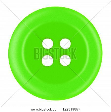 Plastic Button Isolated - Green