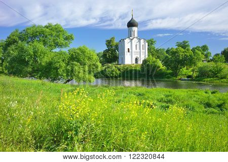 Golden Ring of Russia, Vladimir region, Bogolyubovo. Church of the Intercession on the Nerl, built in 1165.