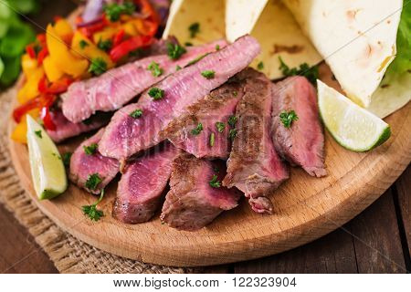 Mexican Fajitas For Beef Steak And Grilled Vegetables