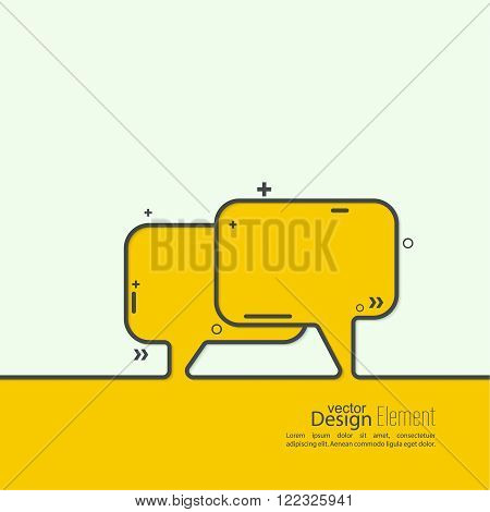 Abstract background with Speech Bubbles symbol. Chat icon. Concept showing conversation and discussion, question and answer.