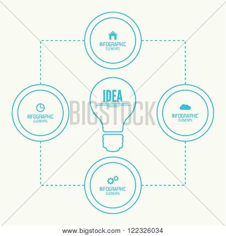 Comparative chart with banner for presentation, informative forms. Option. concept of big ideas inspiration innovation, invention, effective thinking.