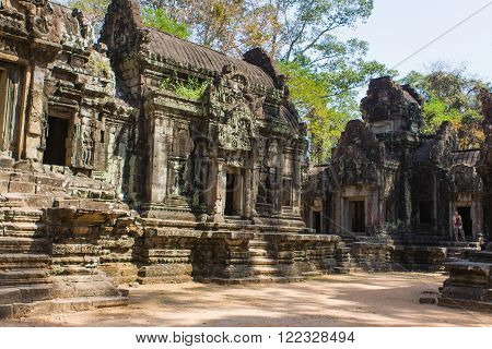 Part of an nacient Angkor Wat temple in Cambodia.