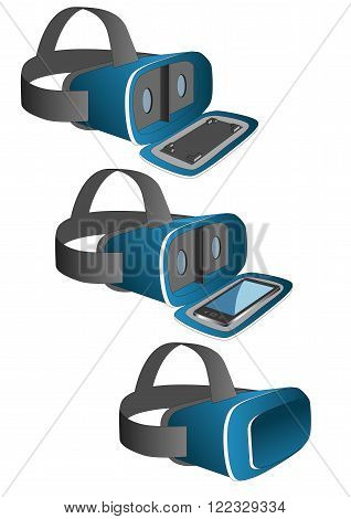 Vr Headset In Blue