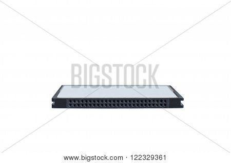 Compact flash card in white background isolated