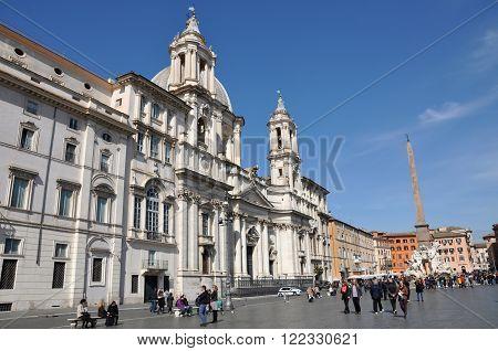 Piazza Navona Square In Rome, Italy