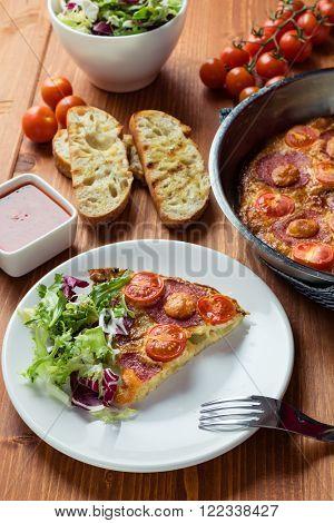 Frittata On White Plate
