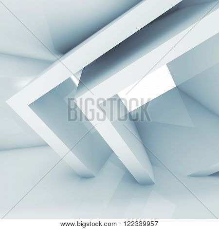 Abstract Interior With Cubic Structures 3D Render