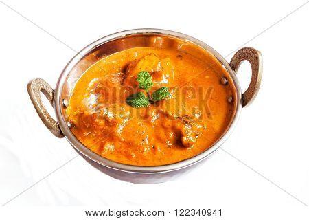 Indian chicken tikka Masala Curry in Kadai