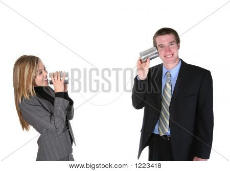 Business People On Old Phone