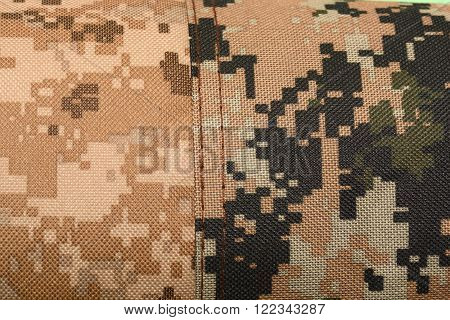 Close-up Of A Piece Of Camouflage Cloth