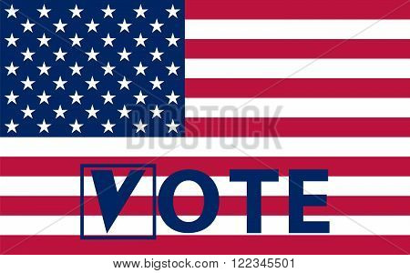 American flag with stars vector illustration US Elections