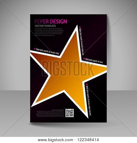 Business Brochure. Editable A4 Poster For Design Cover Of Magazine.
