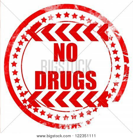 No drugs sign with some vivid colors