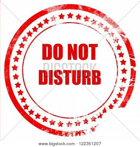 Do not disturb sign for a hotel room