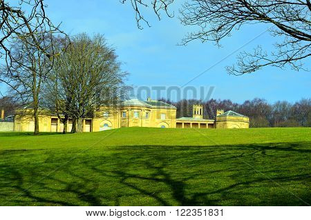 Prestwich Manchester England UK - March 13 2016 : The grade 1 listed building Heaton Hall in Manchester