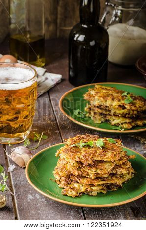 Potato Pancakes With Garlic And Beer