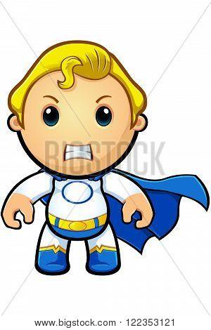 Blue And White Super Boy - Original