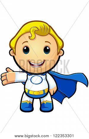 Blue And White Super Boy - Set Up