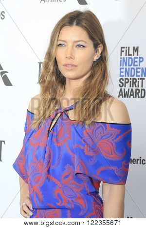 SANTA  MONICA - MAR 1: Jessica Biel at the 2016 Film Independent Spirit Awards at Santa Monica Beach on February 27, 2016 in Santa Monica, California