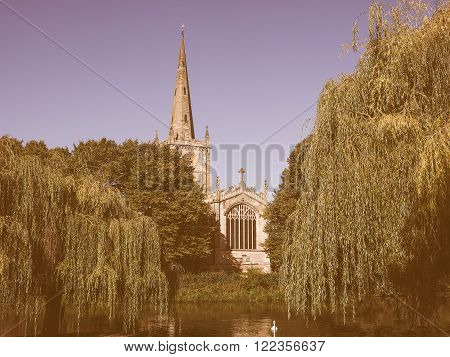 Holy Trinity Church In Stratford Upon Avon Vintage