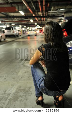 Waiting For Nobody In Underground Parking Place