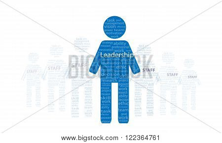Vector of Leadership concept present by manager stand in front of staff
