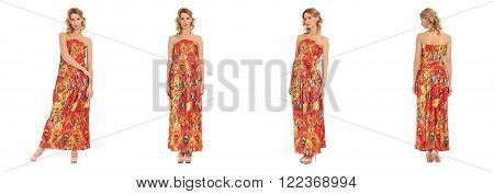 Pretty Woman n dress front back side view isolated