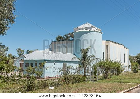 SOMERSET EAST SOUTH AFRICA - FEBRUARY 19 2016: The Roman Catholic Church in Somerset East a small town in the Eastern Cape Province