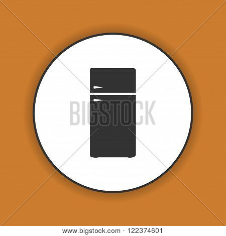 Icon of refrigerator. Flat design style eps 10
