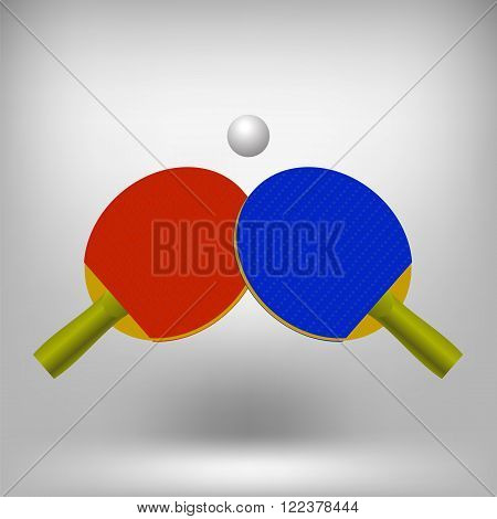 Two Ping Pong Rackets