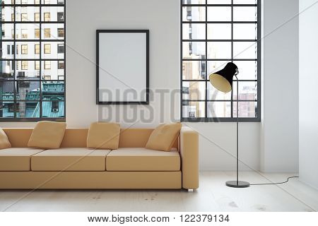 Interior Design With Blank Frame