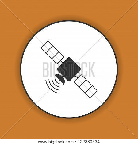 satellite icon. Flat design style. Vector icon