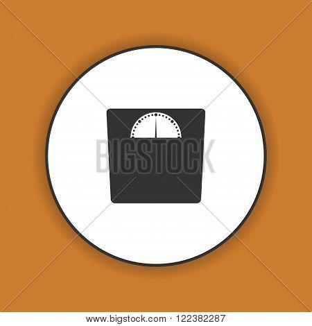 weighting icon. Vector illustration EPS 10 flat